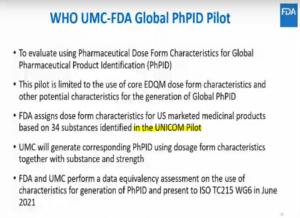 Screenshot taken during the FDA webinar